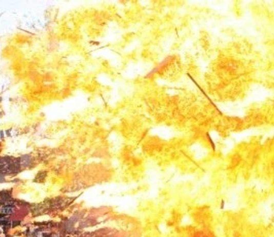 Lisa Holyle performing stunts on NCIS.