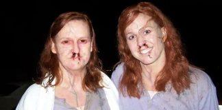 Lisa K Wyatt and Deven MacNair on the set of The Crazies. Photograph: Deven MacNair