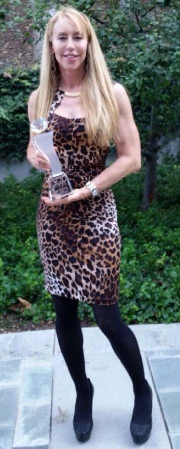 Cheryl Wheeler Receives the Helen Gibson Award at Action Icon Awards.