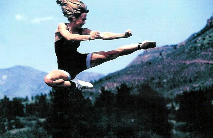 Cheryl Wheeler Sanders flying kick