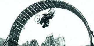 Richard Washington performed the motorcycle stunt for Earthquake.